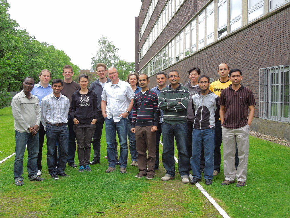 Group photo of the corrosion group from 2012