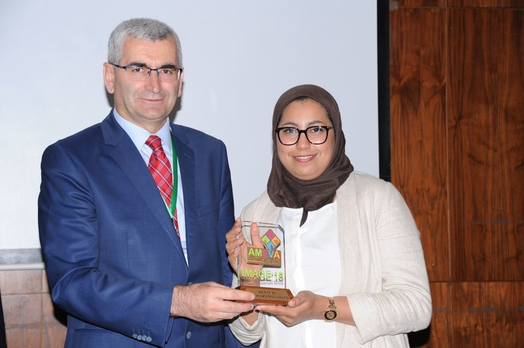 Lamya Abdellaoui was awarded for her presentation on the microstructure of thermoelectric materials at the IMAGE18.