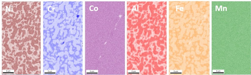 This project investigates if particle strengthening is a viable mechanism for compositionally complex alloys (CCA) showing exceptional mechanical properties. Whether precipitates form analogously to conventional alloys, and, if so, with similar precipitation kinetics, still needs to be studied. Extending the concept of CCA to intentionally particle strengthened CCA (p-CCA) in a systematic way requires full microstructure analyses down to the atomic level.