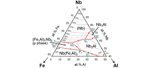 Solidification and phase relations in Nb-based Nb-Al-Fe alloys