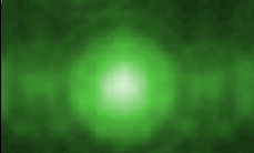 Simulated field ionization contrast above a single Re atom in Ni(210) (3x1).