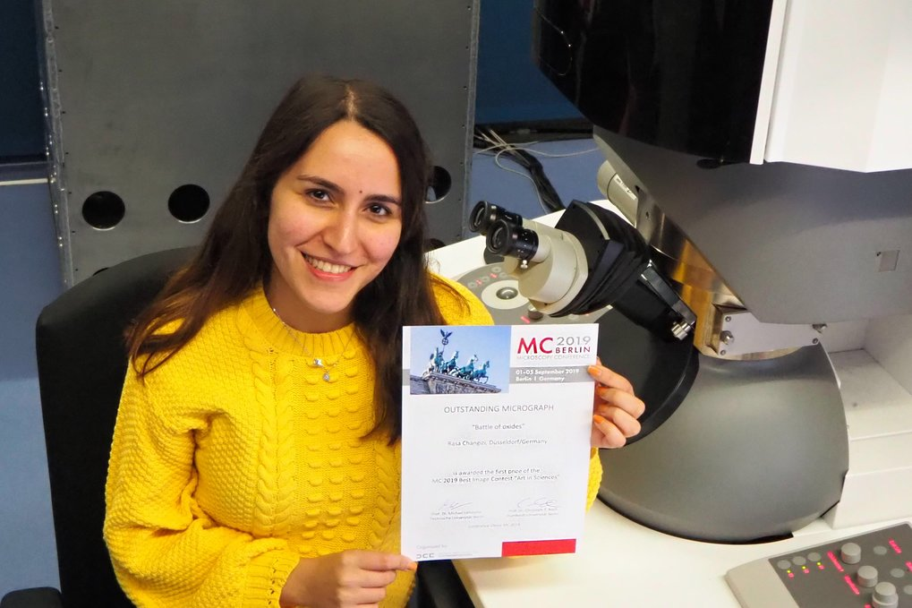 "Rasa Changizi has won the image competition at the ""Microscopy Conference 2019."""