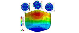 Large scale forming simulation by using DAMASK-based crystal plasticity methods